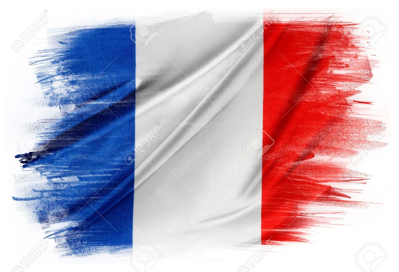 30930924-french-flag-on-plain-background